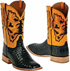 Men's tooled with gator black jack boots