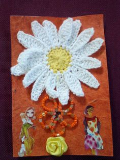Flower Girls small art collage, for sale on Etsy.com. Just search for my shop, euphoriacollage.