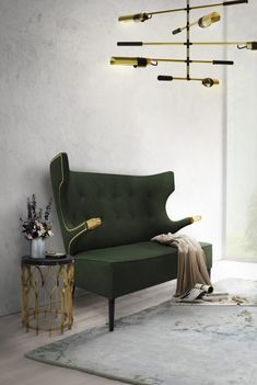 To prove you that a green sofa is an excellent addition to your living room furniture set, here are 21 reasons to love a sofa in this shade. Mid Century Modern Sofa, Mid Century Sofa, Mid Century Modern Furniture, Chic Living Room, Living Room Sets, Living Room Furniture, Living Room Inspiration, Interior Design Inspiration, Sofa Design