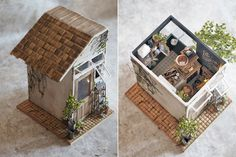 miniature * A small cafe was able. : Natural color of life ~ handmade furniture