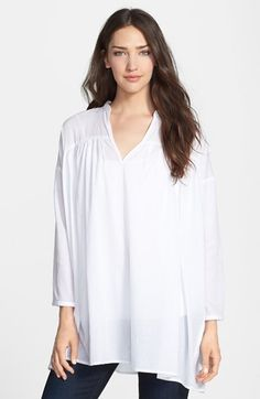Eileen Fisher Bracelet Sleeve Woven Organic Cotton Tunic available at #Nordstrom