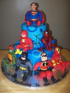 Superman, Spiderman, Batman, Ninja Turtles, Flash, Ironman, Incredibles Hero Birthday cakes in San Antonio TX. www.originalsbynina.com