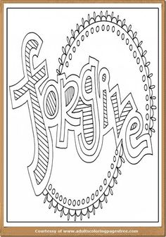 Forgiveness Coloring Pages Of Forgiving