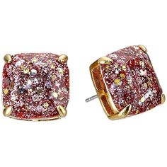 Kate Spade New York Small Square Studs Earring ($38) ❤ liked on Polyvore featuring jewelry, earrings, red, red jewelry, earrings jewelry, red stud earrings, stud earrings and square earrings