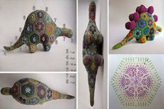 Art Au Crochet, Crochet Cross, Crochet Home, Crochet Motif, Crochet Flowers, Knit Crochet, Crochet Toys Patterns, Amigurumi Patterns, African Flower Crochet Animals