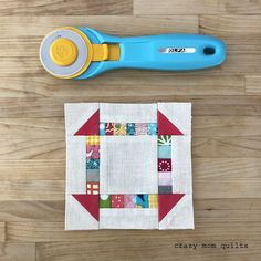 scrappy churn dash block tutorial--pint sized