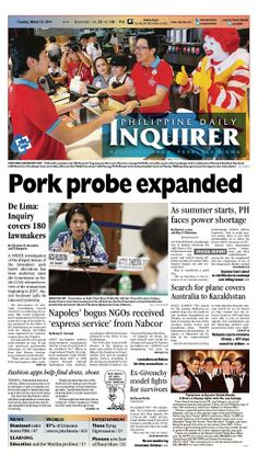 March 18 #inquirer front page. Download the full version from inquirer.net/apps/.