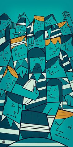 Triathlon by ale giorgini inspiracional, murales, expresionismo, deportes, Pulp Fiction, Rugby Poster, Graphic Art, Graphic Design, Arte Pop, Illustrations And Posters, Illustrators, Pop Art, Character Design