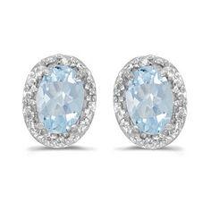 Allurez Natural Oval Aquamarine and Diamond Earrings in 14k White Gold (0.80 ct) Aqua Marine Allurez http://www.amazon.ca/dp/B00N33H1A8/ref=cm_sw_r_pi_dp_f1yJub11ADY63