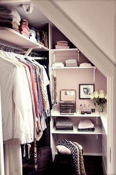 Walk In Wardrobe Design In Small Area