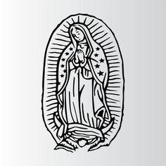 Virgen Mary Tattoo, Virgin Mary Art, Small Hand Tattoos, Tattoo Photography, Small Canvas Art, Tattoo Flash Art, Pretty Tattoos, Mexican Folk Art, First Tattoo