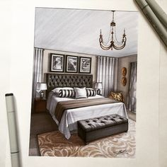 "Elena Ivannikova on Instagram: ""#интерьер  #дизайн #скетч  #маркеры  #sketch  #sketching  #marker  #decor  #design  #interior  #interiordesign  #interiorsketch"""