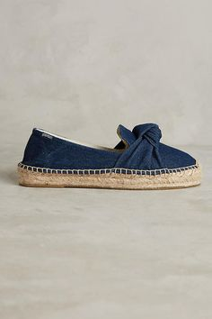 Slide View: 2: Knotted Denim Espadrilles