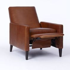 Shop sedgwick recliner - leather from west elm. Find a wide selection of furniture and decor options that will suit your tastes, including a variety of sedgwick recliner - leather. Living Room Seating, Accent Chairs For Living Room, Living Room Furniture, Modern Furniture, Furniture Sale, Furniture Collection, Furniture Design, Dining Room, Leather Recliner Chair