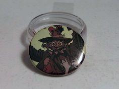 """Comic Book 1.5"""" Button// Scarecrow, $1.00"""