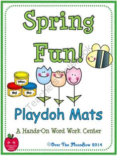 Your students will love these spring themed playdoh mats that will help them learn vocabulary and develop their fine motor skills; a perfect complement to your seasonal themed activities!