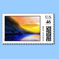 They're Here US Postage from Bill M. Tracer Studio, at Zazzle: http://www.zazzle.com/theyre_here_postage-172764482310512578  $21.95