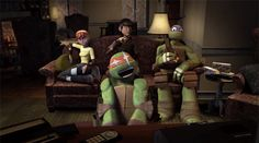 tmntmaster: Watching TMNT episodes like Mikey