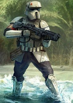 Star Wars: Rogue One - Shore Trooper Star Wars Fan Art, Star Wars Concept Art, Star Wars Gifts, Star Wars Clone Wars, Star Trek, Chewbacca, Star Wars Pictures, Star Wars Images, Star Wars Characters Pictures