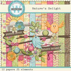 Nature's Delight Digital Scrapbooking Kit by KWintersDesigns, $4.00