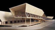volados tapados de un solo lado Design Model, Architecture Drawings, Conceptual Architecture, Museum Architecture, Architecture Board, Architecture Graphics, Modern Architecture, Auditorium Architecture, Building Design