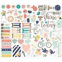 Simple Stories: Posh Bits & Pieces w/Foil, 86/Pkg