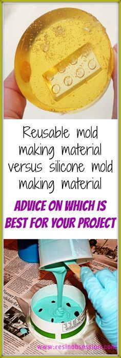 Resin Obsession blog:  Should you use silicone or reusable molding materials to make your next resin mold?