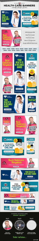 Health Care Banner Bundle - 3 sets on Behance