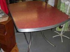 Formica and chrome tables