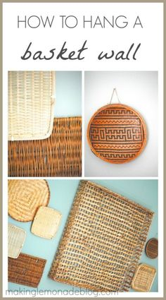How To Hang A Basket Wall. Have A Blank Wall That Needs A Little Help? Here's An Easy Home Decor Idea That Can Be Created From Thrifted Baskets.