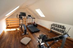 5 bedroom detached house for sale in Granville Park West, AUGHTON, Lancashire - Rightmove. Home Gym Garage, Diy Home Gym, Gym Room At Home, Home Gym Decor, Garage Loft, Small Attic Room, Attic Spaces, Attic Rooms, Home Gym Design