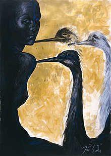 Eine Dame mit Straußen, picture from the series Drawings by Wolfgang Joop, LUMAS Artist ✓ African American Artist, American Artists, Wolfgang Joop, African Paintings, Pictures Online, Art Pictures, Museum, Best Artist, Portrait