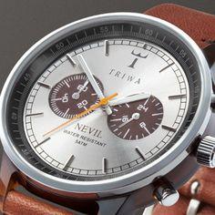 Triwa Havana Brown Nevil Watch w/ Brown Leather Band