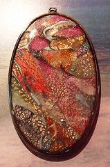 Jill Palumbo - Tutorial using polymer clay, silver leaf, inks and resin.