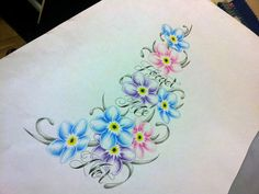 forget me not flower tattoo designs