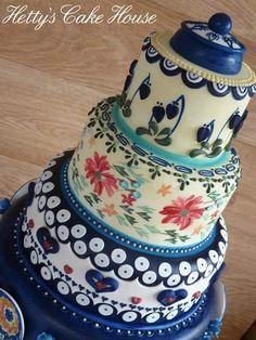 .facebook_1463663276966 Polish Wedding, Painted Cakes, Polish Pottery, Baking Party, Amazing Cakes, Facebook, Cake Decorating, Poland, Beautiful