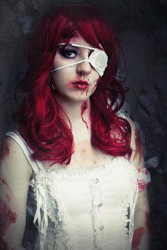 Guro Lolita idea with red hair