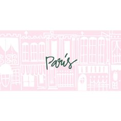 Paris Doodles ❤ liked on Polyvore