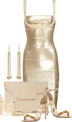 """Herve Leger Dress"" by lilpudget on Polyvore"