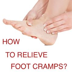 You might experience foot cramp (spasm) any time. It could either be while you are working out, sleeping, driving or even when you are just comfortably sitting on the couch. Foot cramps are surely painful, so you should know how to deal with it! 4 TIPS TO RELIEVE FOOT CRAMPS 1. Massage your affected foot or apply acupressure. With acupressure, you need to press any of the 3 pressure points: (1)site between upper lips and nose... Read full post here http://tinyurl.com/foot-cramps-relief