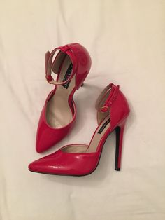 a2b7fb2dab Devious By Pleaser Size 7 Red Heels  fashion  clothing  shoes  accessories