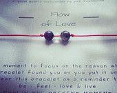 Flow of Love - Yoga   Gemstone   Healing   Bracelet   Mindfulnessbracelet   Clear Quartz   Pink Tourmaline - pinned by pin4etsy.com