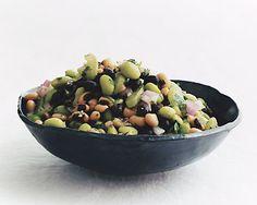3 bean salad with edamame