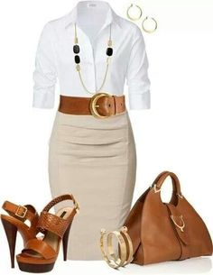 Camel and khaki business classy