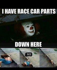 #Car_Memes #IT #Race_Car #Stephen_King