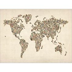 Ladies Shoes World Map