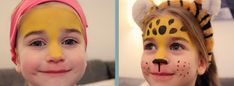 Leopard  Ein schönes Karnevals-Gesicht schminken ist nicht einfach. Vor allem wenn man Kindern das Gesicht bemalt, die nicht gerade lange still halten können. Da muss es schnell gehen.   Hier findet ihr die Anleitung für einen süßen Leoparden + Anleitung zum download, damit ihr bestens auf Karneval vorbereitet seid.   #Karneval #Leopard #schminken #ideen #Fasching  #carnival #Makeup #ideas #kids