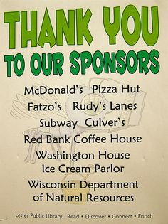 A special thank you to the sponsors of our Summer Reading Program | Buzz Off, I'm Reading