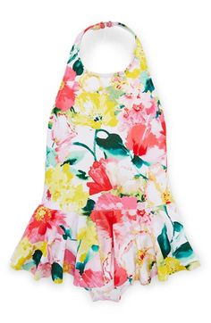 Ralph Lauren Floral Print One-Piece Swimsuit (Toddler Girls & Little Girls) available at #Nordstrom