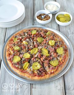 Bacon Cheeseburger Pizza - Low Carb, Gluten Free